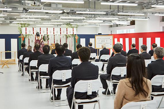 帝京大学先端総合研究機構棟新築工事の竣工式を執り行いました