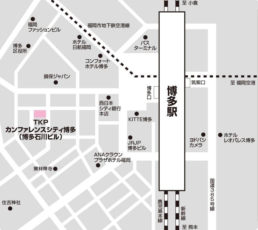 博多第3試験場のアクセス図