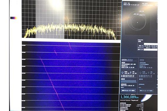 受信した信号の参考画像