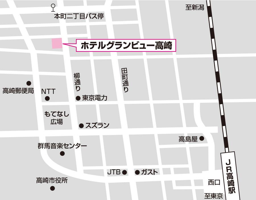 高崎試験場のアクセス図