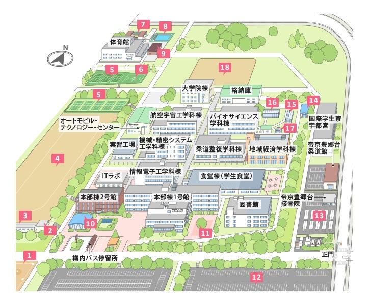 キャンパスマップ(イラスト)