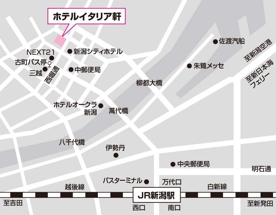 新潟試験場のアクセス図