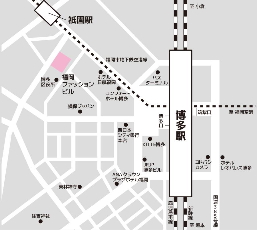 博多試験場のアクセス図