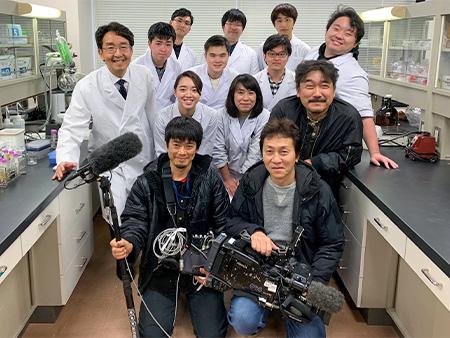 NHKまちかど情報室による2019年度研究室生の撮影取材