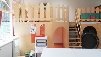 4~7歳までの教室の一画