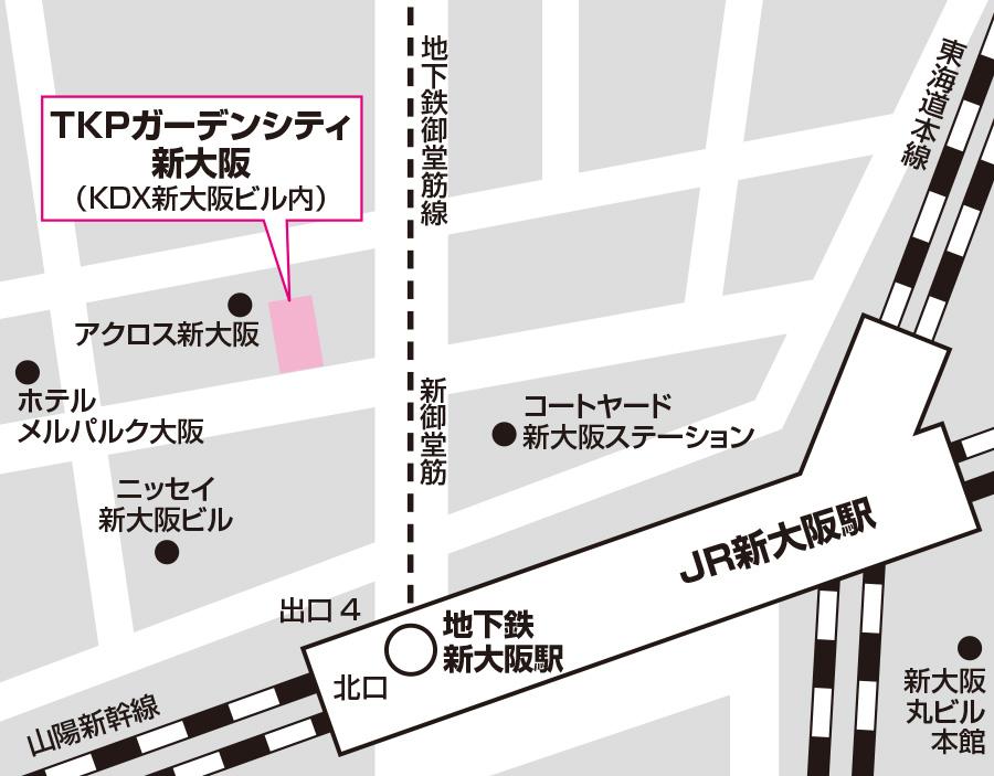 大阪試験場のアクセス図