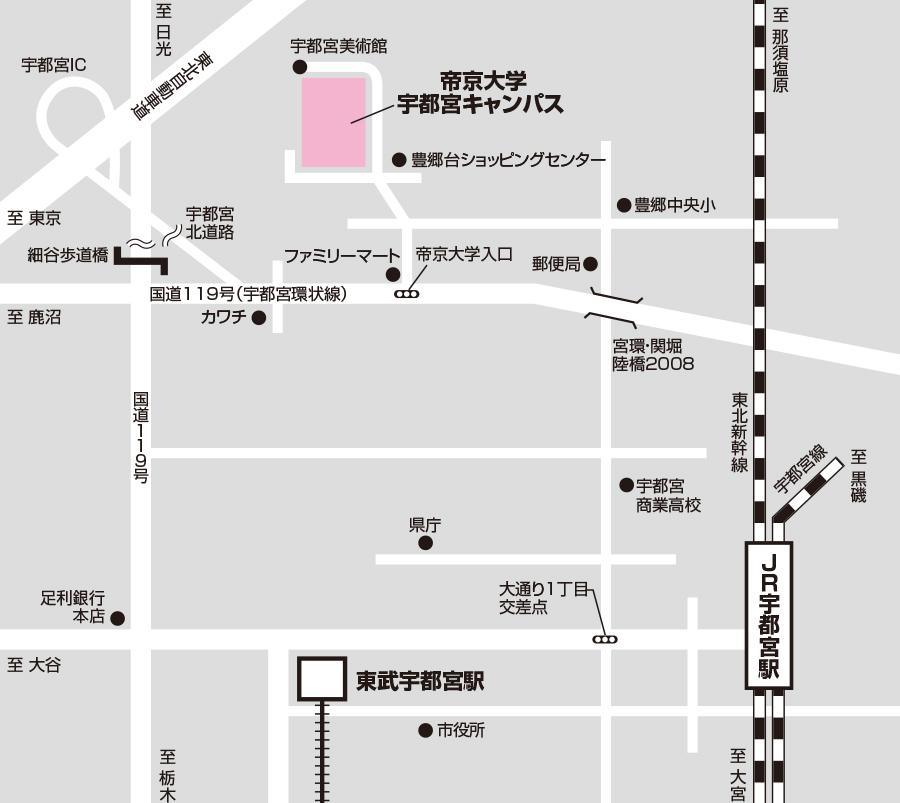 宇都宮試験場のアクセス図