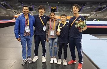 本学学生が「第49回世界体操競技選手権大会」で金メダルを獲得しました
