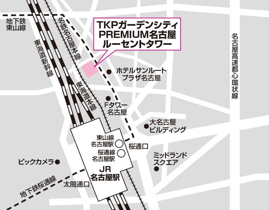 名古屋試験場のアクセス図