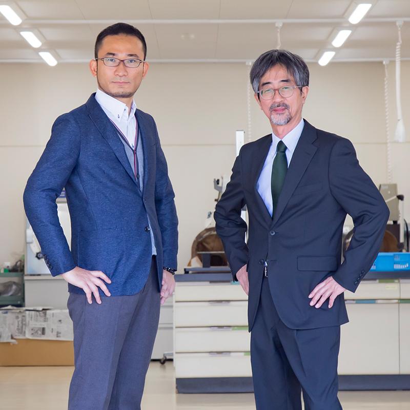 (左から)藤澤 明 准教授 / 山内 和也 教授