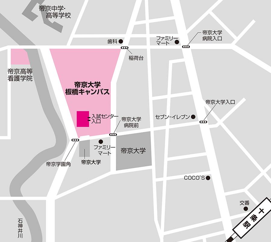 板橋試験場のアクセス図