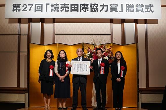 岡田准教授が第27回読売国際協力賞を受賞しました【文化財研究所】