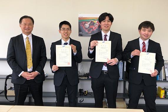 本学学生が公益社団法人自動車技術会から表彰されました