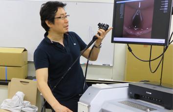 上部下部消化管内視鏡実習の様子01(2014年5月20日)