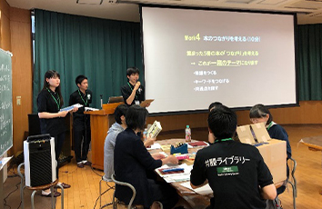 共読サポーターズが学校司書入門講座で「一箱古本市ワークショップ」を開催しました【帝京大学メディアライブラリーセンター】