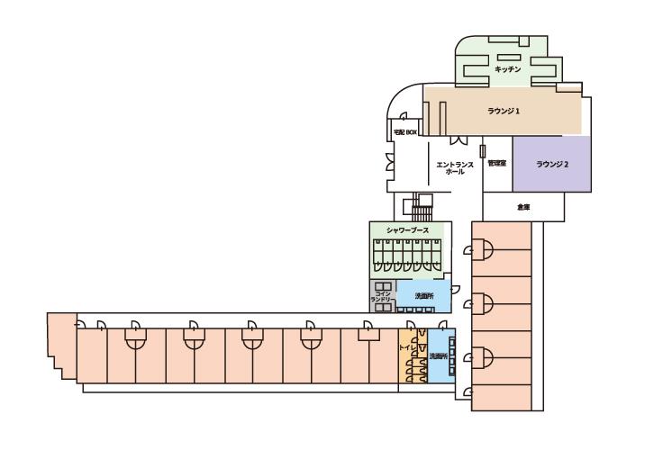 寮1F平面図