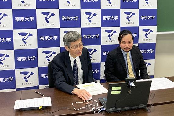 中島客員研究員と宮下講師が「水泡眼金魚を利用した新しい免疫学ex vivo実験系」についてオンライン記者発表を行いました