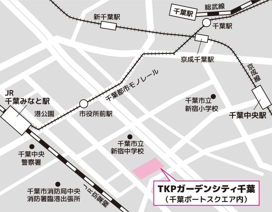 千葉試験場のアクセス図